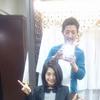 流行りの黒髪、かきあげ前髪に変身   川口市 美容室 美容院